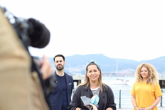 La candidata de Ciudadanos a la Xunta, Beatriz Pino.