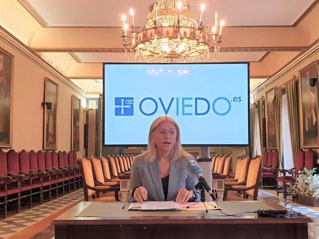 La portavoz de Vox en el Ayuntamiento de Oviedo, Cristina Coto