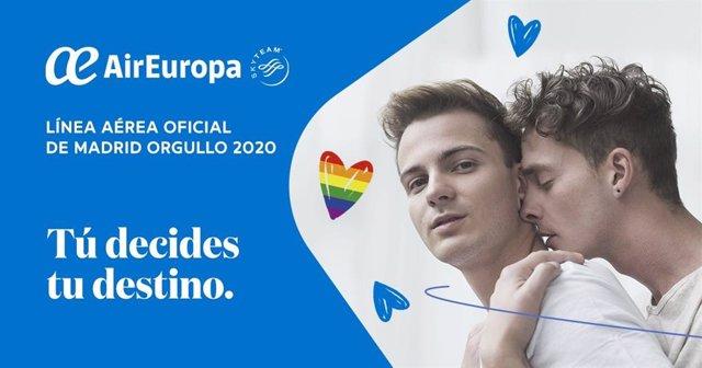 Air Europa, aerolínea oficial del Orgullo.