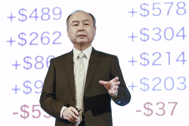 12 February 2020, Japan, Tokyo: Japan's SoftBank Group Corp Chief Executive Masayoshi Son speaks during a press conference to announce the company's third quarter (April - December, 2019) of the fiscal year ending 31 March 2020. Photo: Rodrigo Reyes Marin