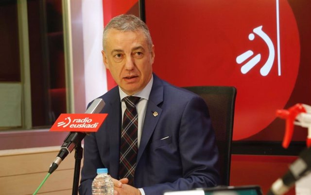 El Lehendakari, Iñigo Urkullu, en una entrevista en Radio Euskadi