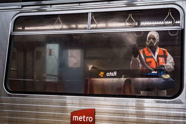 Desinfección del Metro de Lisboa