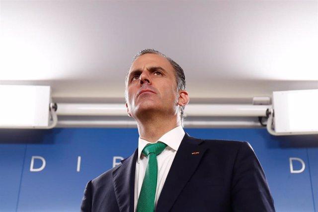 Imagen de archivo del portavoz de Vox en el Ayuntamiento de Madrid y secretario general de la formación, Javier Ortega Smith.