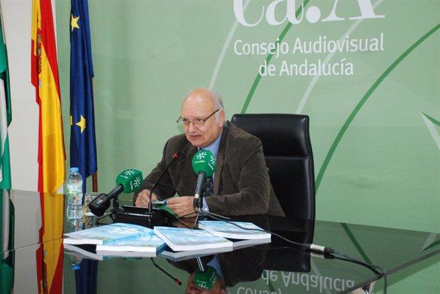 El presidente del Consejo Audiovisual de Andalucía, Antonio Checa, en una imagen de archivo.