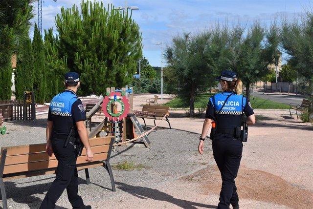 Dos policías locales de Monzón
