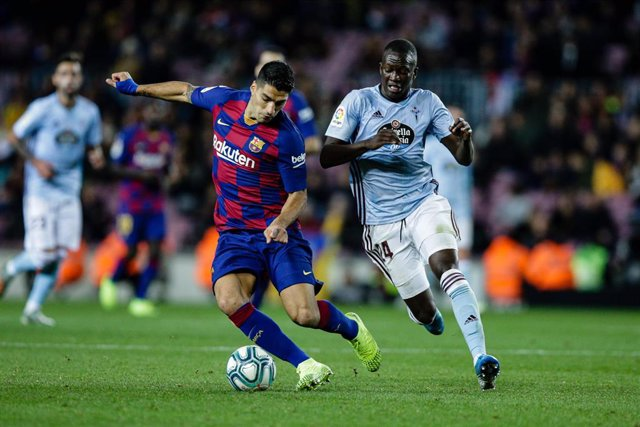 09 Luis Suarez from Uruguay of FC Barcelona during the La Liga Santander match between FC Barcelona and RC Celta in Camp Nou Stadium in Barcelona 09 of November of 2019, Spain.