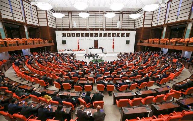 Vista general del Parlamento de Turquía