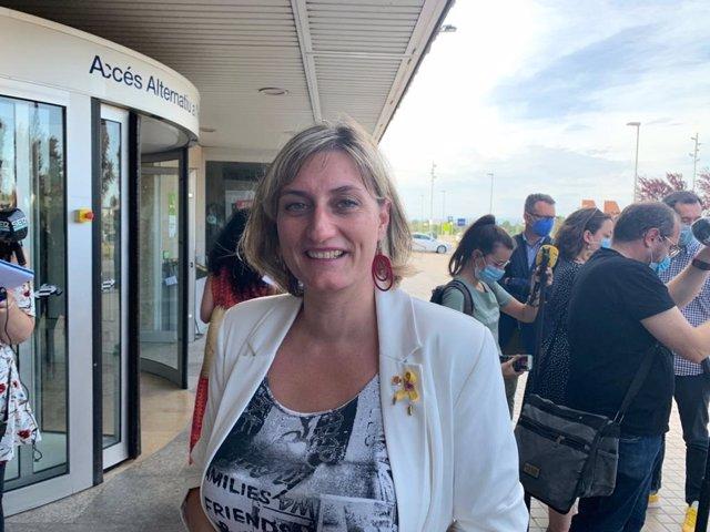 La consellera de Salud de la Generalitat, Alba Vergés, este viernes en Lleida