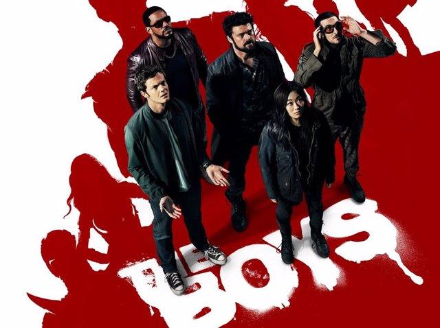 Cartel de la segunda temporada de The Boys