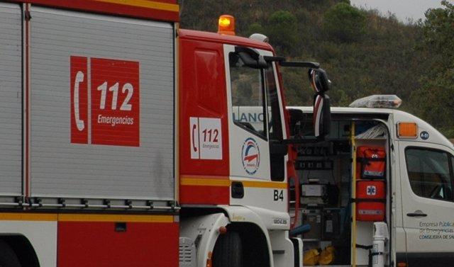 Huelva.- Sucesos.- Dos heridos en un incendio de vivienda en Aljaraque