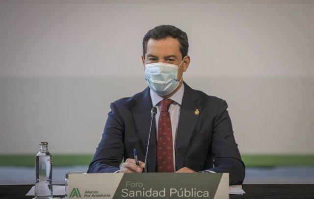 El presidente de la Junta, Juanma Moreno, en una foto de archivo