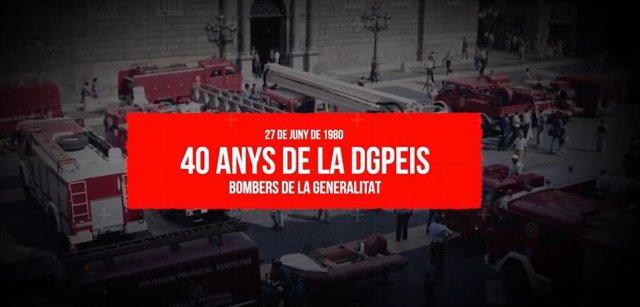 La Dirección de Prevención, Extinción y Salvamentos de la Generalitat cumple 40 años