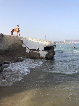 Playa en la bahía de Algeciras