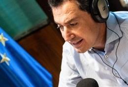 El presidente de la Junta, Juanma Moreno, durante la entrevista