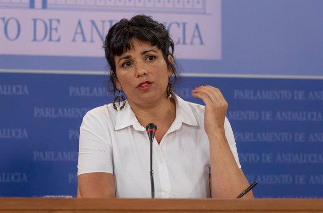 La portavoz de Adelante Andalucía, Teresa Rodríguez, en una foto de archivo