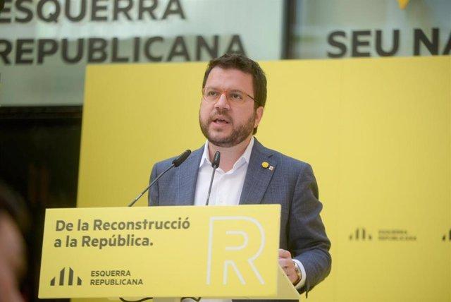 El vicepresident de la Generalitat i coordinador general d'ERC, Pere Aragonès