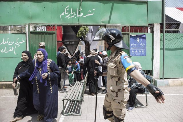Militar egipcio en El Cairo