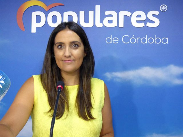 La portavoz de Salud y Familia del PP-A en el Parlamento andaluz, Beatriz Jurado, en una foto de archivo