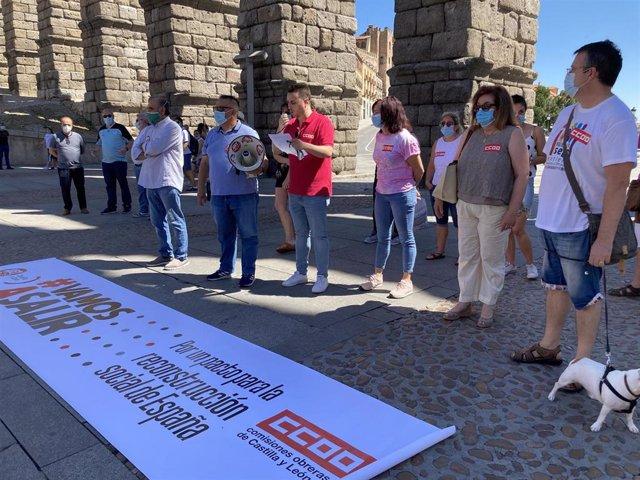Concentración en Segovia.