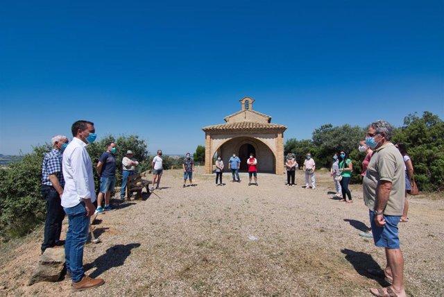 Homenaje COVID-19 en San Esteban de Litera