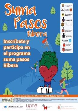 Cartel de la campaña 'Suma Pasos Ribera'