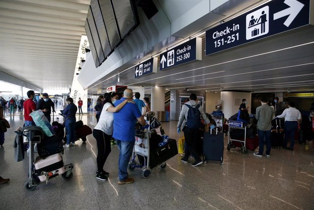 Aeropuerto de Fiumicino, en Roma
