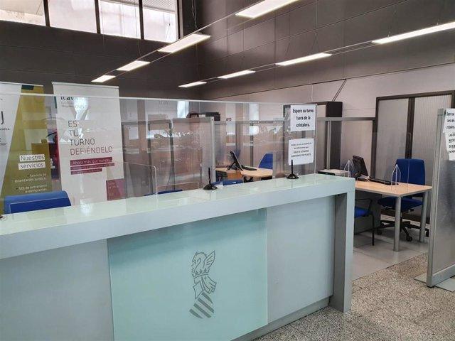 Mamparas en la Ciudad de la Justicia de València