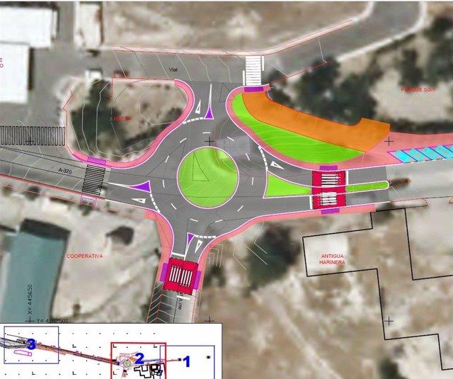 Fomento licita obras para construir una rotonda que evite accidentes en la travesía de Mancha Real