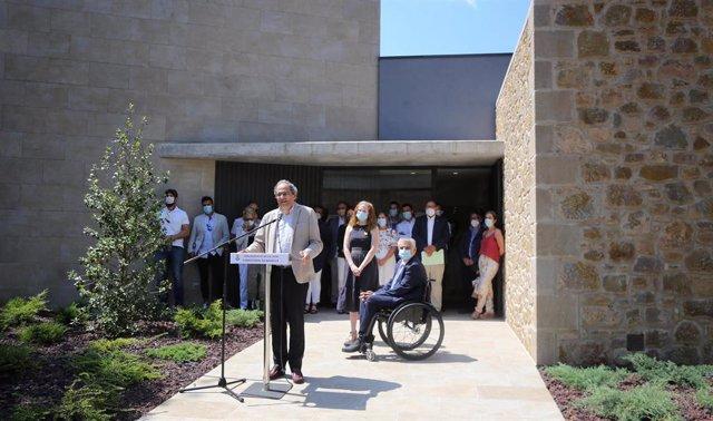 El president de la Generalitat, Quim Torra, en declaracions durant una visita al geriàtric de la Fundació Agropecuària de Guissona (Lleida).
