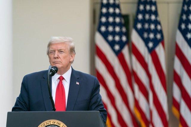 El presidente de Estados Unidos, Donald Trump, en una comparecencia en la Casa Blanca