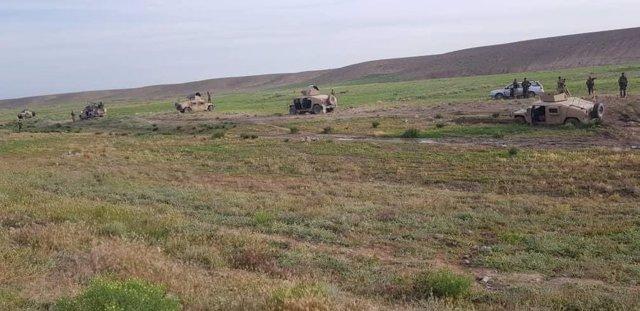 Una operación del Ejército afgano con vehículos blindados