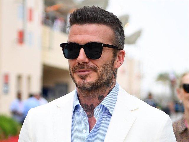 David Beckham walks in the Paddock  before the F1 Grand Prix of Bahrain at Bahrain International Circuit on March 31, 2019 in Bahrain, Bahrain.