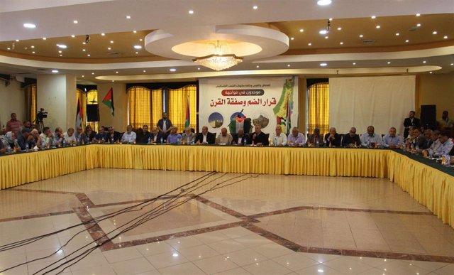 Reunión de las facciones palestinas en Gaza