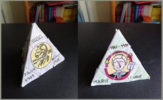 Imagen del trabajo 'La pirámide de Rubik de Marie Curie', de Paula Zapatero