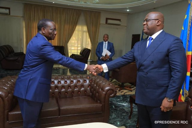 El primer ministro de República Democrática del Congo (RDC), Sylvestre Ilunga Ilunkamba, junto con el presidente del país, Félix Tshisekedi