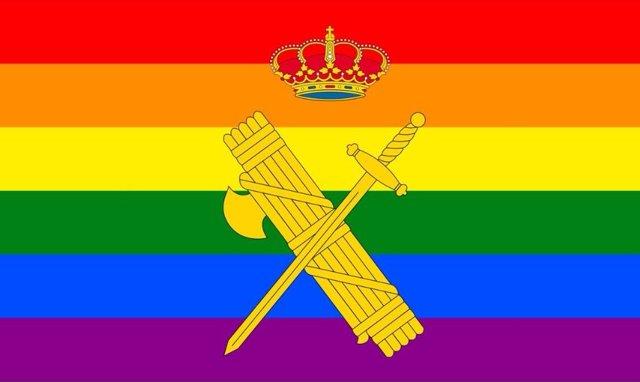 Imagen de la Guardia Civil con motivo del Orgullo LGTBI