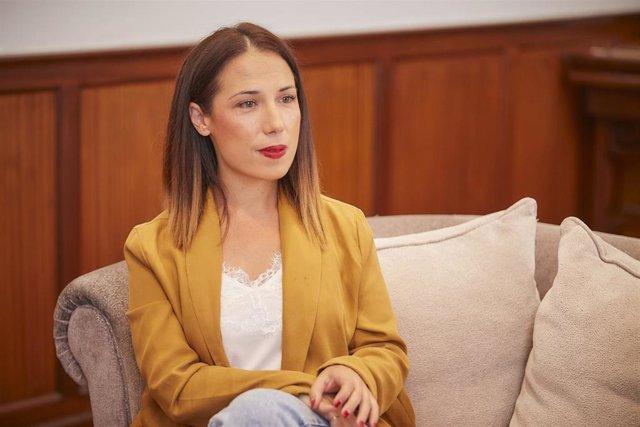 La alcaldesa de Santa Cruz de Tenerife, Patricia Hernández, durante una entrevista realizada por Europa Press