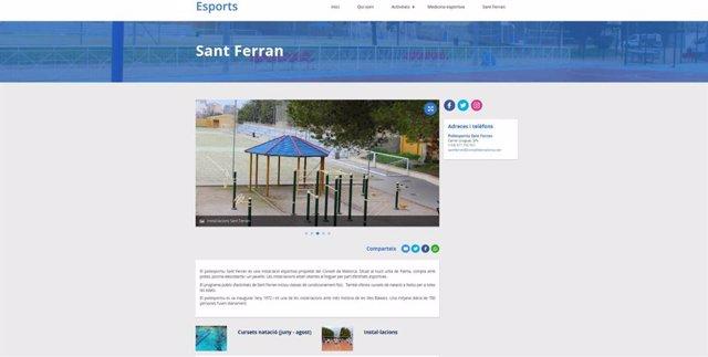 Nueva web de deportes del Consell de Mallorca