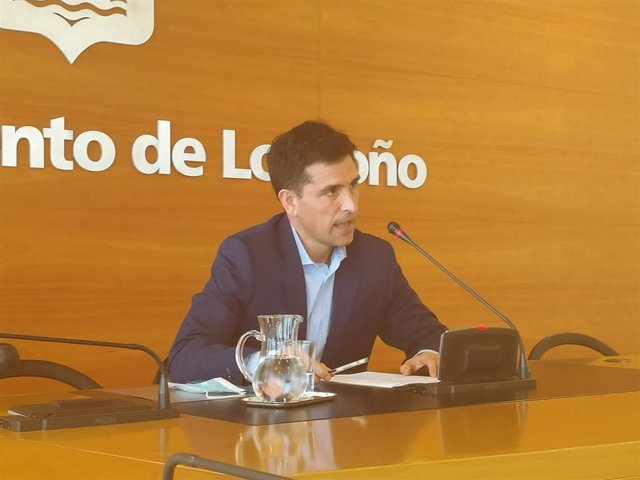 El concejal del PP de Ayuntamiento de Logroño, Josu Ahedo, en comparecencia de prensa