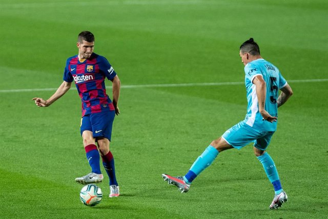 Sergio Roberto of FC Barcelona during the spanish league, LaLiga, football match played between FC Barcelona and CD Leganes at Camp Nou Stadium on June 16, 2020 in Barcelona, Spain