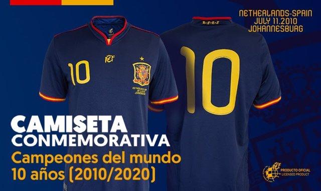 Fútbol.- La RFEF pone a la venta la camiseta conmemorativa de la final del Mundi