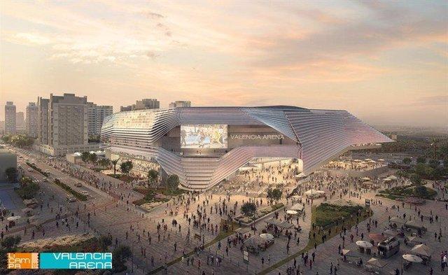 Recreación del futuro pabellón 'Casal España Arena' en València, promovido por el empresario valenciano Juan Roig.