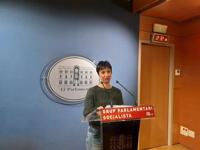 Silvia Cano, portavoz del Grupo Parlamentario Socialista.