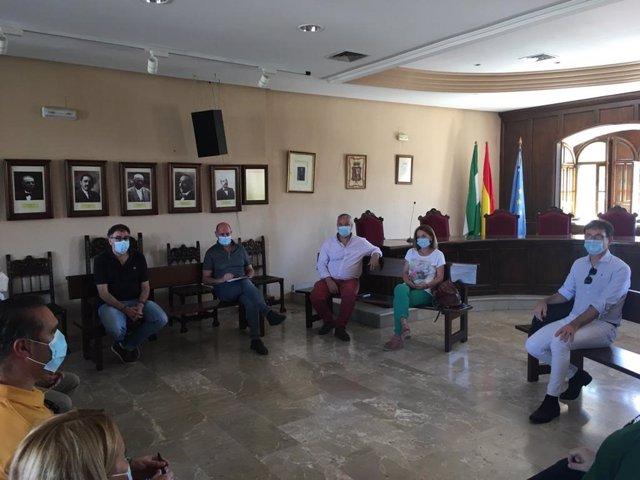 Reunión de José Luis Hidalgo con los alcaldes de El Condado.