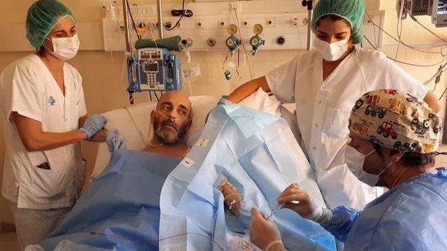 El equipo terapia intravenosa del Hospital Josep Trueta de Girona realiza 881 intervenciones en un año