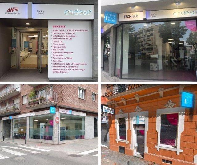 Las nuevas cuatro oficinas abiertas por Endesa en Catalunya.