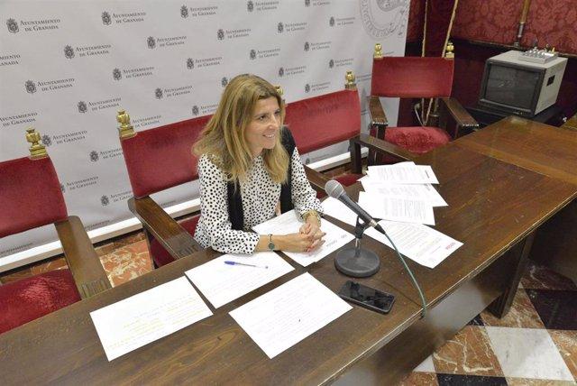 La concejal de Granada Eva Martín, en imagen de archivo
