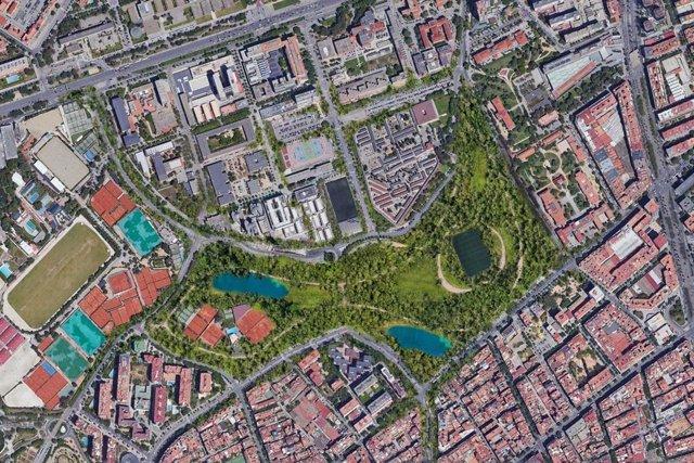 Un estudio de arquitectos propone un parque de 26 hectáreas alrededor del Camp Nou