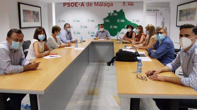 Reunion del gabinete parlamentario del PSOE de Malaga