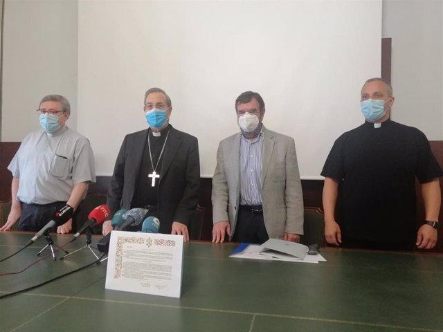 Bibiano Esparza, Francisco Pérez, Juan Ramón Corpas y José Antonio Goñi